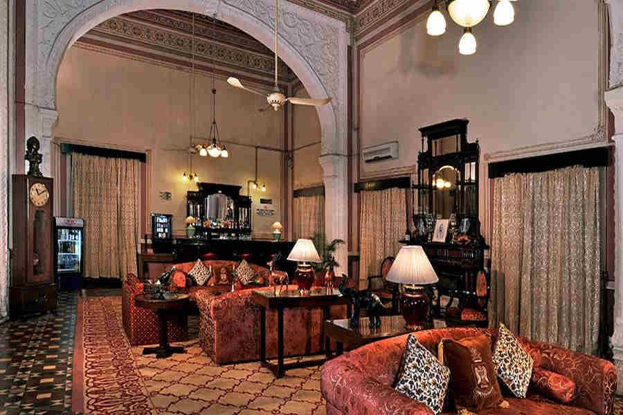 Lounge at Elegant Heritage Hotel In Kota