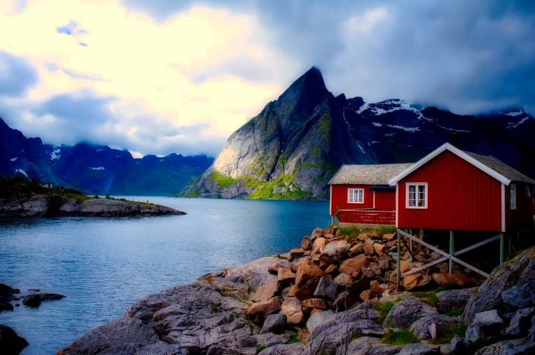 Norway cottage house