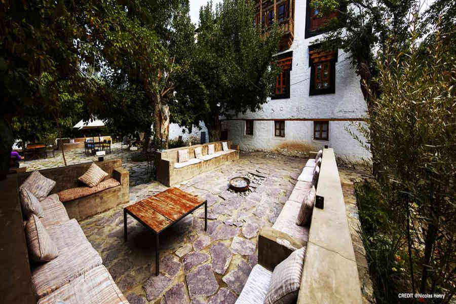 Outdoor seating at the Glamping And Heritage Retreat In Ladakh