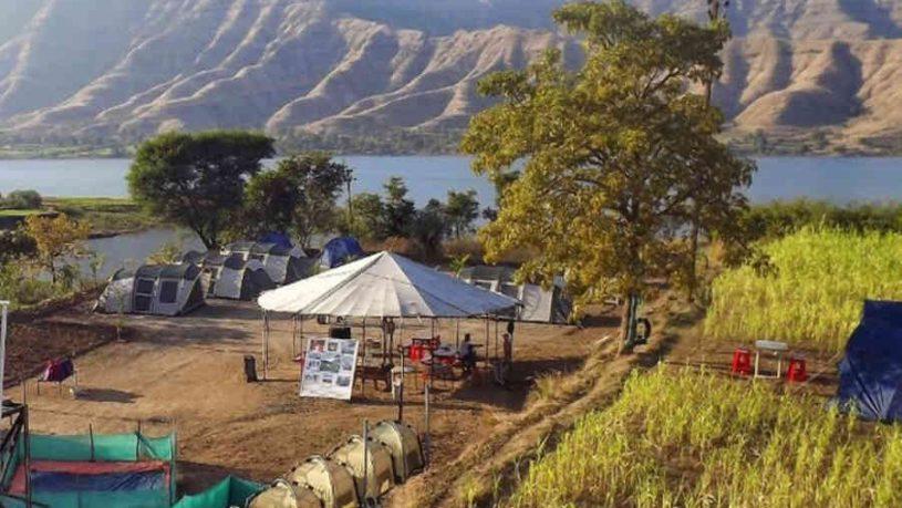 Riverside Campsite At Wai