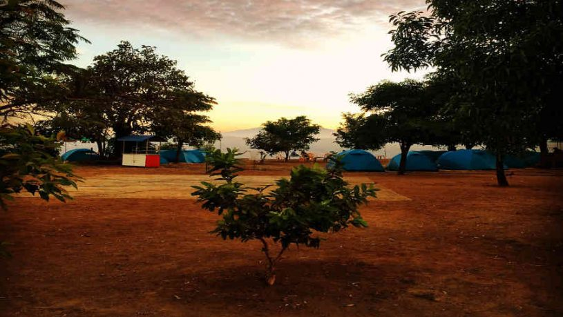 The beautiful Family Campsite Near Tikona Fort