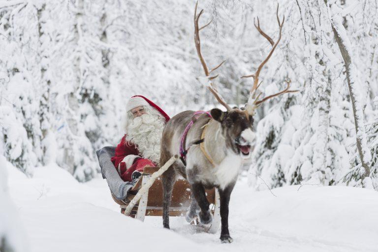 Reindeer Ride at Santa Claus Village