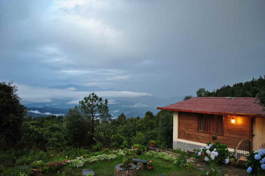 Lawn at the Tranquil Homestay At Jhaltola