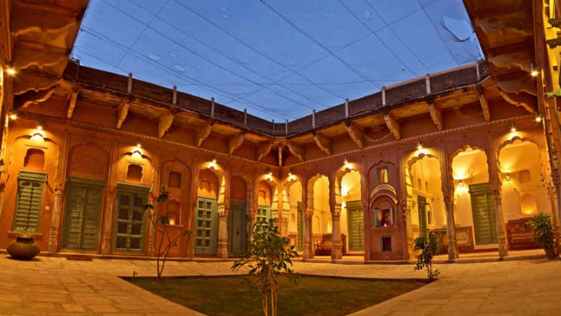 Quadrangle at the Heritage Haveli Stay In Mandawa