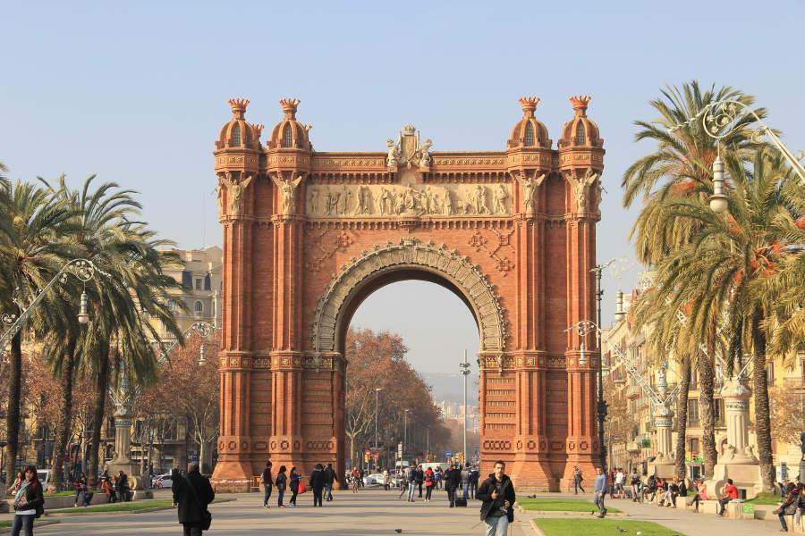 Spain Barcelona Triumphal Arch Street View