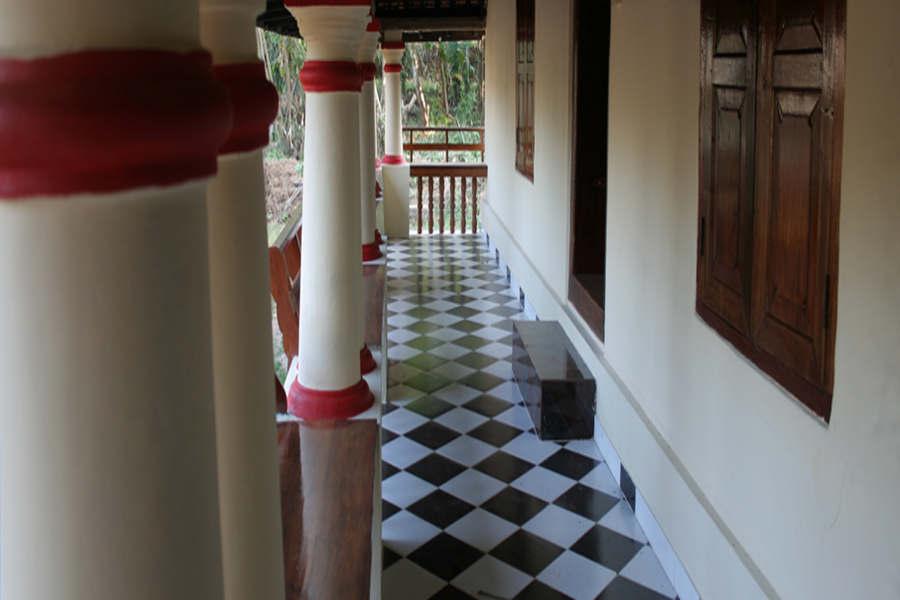Verandah of the Traditional Homestay In Palakkad