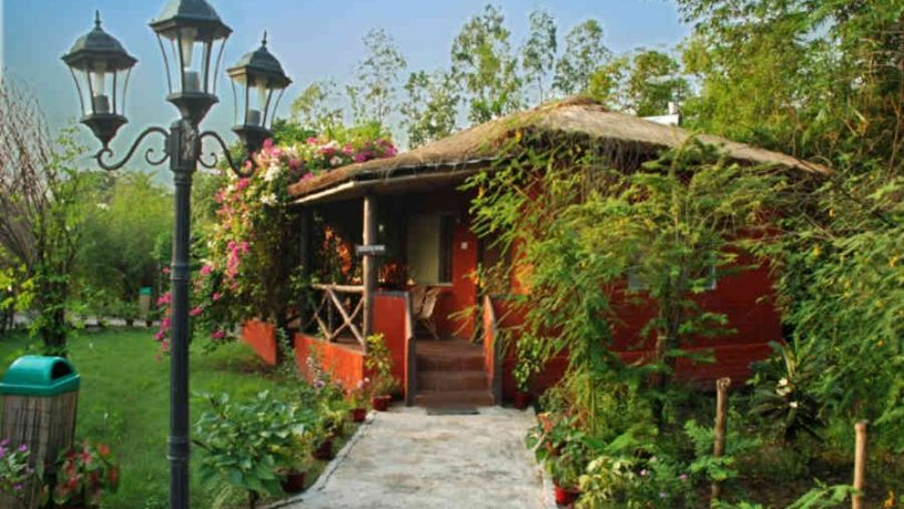 Executive_Cottage_Exterior_at the Blissful Jungle Camp At Sunderbans
